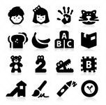 stock-vector-preschool-icons-135551045